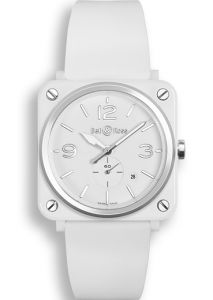 BRS-WH-CES/SRB | Bell & Ross BR S White Ceramic 39 mm watch. Buy Now