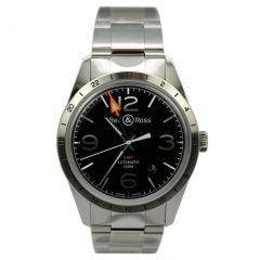 BRV123-BL-GMT/SST | Bell & Ross BR 123 Vintage Original 42 mm watch