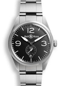BRV123-BL-ST/SST Bell & Ross BR 123 Original Black 41 mm watch.