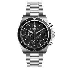 BRV394-BL-ST/SST | Bell & Ross Br V3-94 In Black Steel 43mm watch. Buy Online