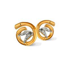 DA10574 030101 | Buy Carrera y Carrera Bambu Tao Mini Diamond Earrings