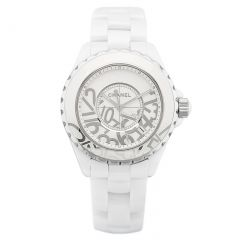 H5239   Chanel J12 Graffiti White Ceramic Quartz 33mm watch