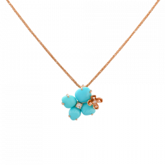 083146 |Buy Chaumet Hortensia Eden Pink Gold Turquoise Diamond Pendant