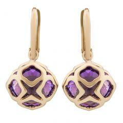 839221-5002 Buy Chopard IMPERIALE Cocktail Rose Gold Amethyst Earrings