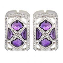839564-1001|Buy Chopard IMPERIALE Lace White Gold Amethyst Earrings