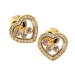 834502-0001 | Buy Chopard Happy Diamonds Yellow Gold Diamond Earrings