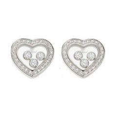 834502-1001 | Buy Chopard Happy Diamonds White Gold Diamond Earrings