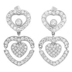 837219-1002   Buy Chopard Happy Diamonds White Gold Diamond Earrings