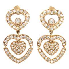 837219-5002   Buy Chopard Happy Diamonds Rose Gold Diamond Earrings