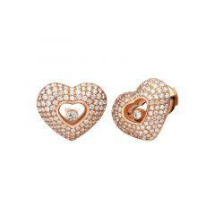 837417-5002   Buy Chopard Happy Diamonds Rose Gold Diamond Earrings
