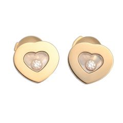 832897-0001 | Buy Chopard Happy Diamonds Icons Ear Pins Yellow Gold
