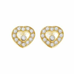 832936-0001 | Buy Chopard Happy Diamonds Icons Ear Pins Yellow Gold