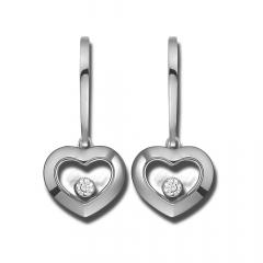 83A054-1301 | Chopard Happy Diamonds Icons White Gold Diamond Earrings