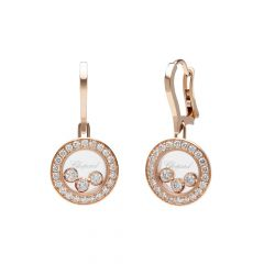 83A018-5401   Buy Chopard Happy Diamonds Icons Rose Gold Pave Earrings