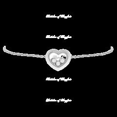 85A611-1001 | Chopard Happy Diamonds Icons White Gold Diamond Bracelet