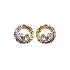 Chopard Happy Diamonds Joaillerie Multi-Coloured Diamond Sapphire Earrings 849437-5801