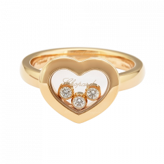 82A611-5110 | Buy Online Chopard Happy Diamonds Rose Gold Diamond Ring