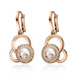 839769-5002 | Buy Chopard Happy Dreams Rose Gold Diamond Earrings
