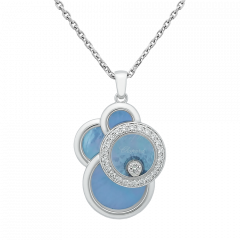799888-1007 | Chopard Happy Dreams White Gold Mother-of-Pearl Pendant