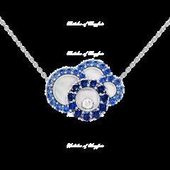 819882-1002 | Chopard Happy Dreams White Gold Diamond Sapphire Pendant