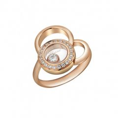 829769-5038 | Buy Online Chopard Happy Dreams Rose Gold Diamond Ring