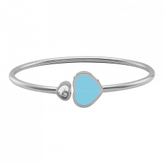 857482-1403 | Chopard Happy Hearts White Gold Turquoise Bangle
