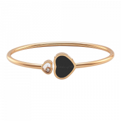 857482-5202 | Buy Chopard Happy Hearts Rose Gold Onyx Diamond Bangle