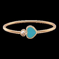857482-5402 | Chopard Happy Hearts Rose Gold Turquoise Diamond Bangle
