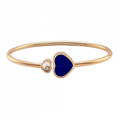 857482-5504 | Chopard Happy Hearts Rose Gold Lapis Lazuli Bangle