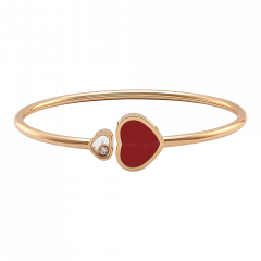 857482-5702   Buy Chopard Happy Hearts Rose Gold Coral Diamond Bangle