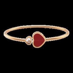857482-5703   Buy Chopard Happy Hearts Rose Gold Coral Diamond Bangle