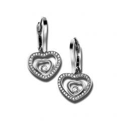 837482-1002 | Buy Chopard Happy Hearts White Gold Diamond Earrings
