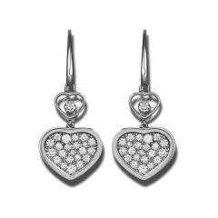 837482-1009 Buy Chopard Happy Hearts White Gold Diamond Earrings