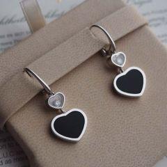 837482-1210 Buy Chopard Happy Hearts White Gold Onyx Diamond Earrings