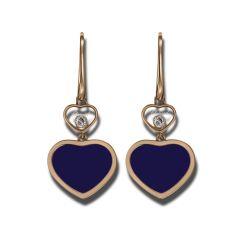 837482-5510 | Buy Chopard Happy Hearts Rose Gold Lapis Lazuli Earrings