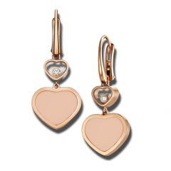 837482-5610 | Buy Chopard Happy Hearts Rose Gold Rosé Stone Earrings