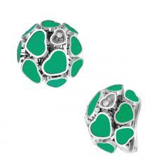 847482-1101 | Buy Chopard Happy Hearts White Gold Agate Earrings