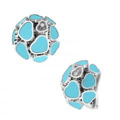 847482-1401 | Buy Chopard Happy Hearts White Gold Turquoise Earrings