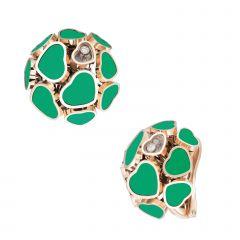847482-5101 | Buy Chopard Happy Hearts Rose Gold Agate Earrings