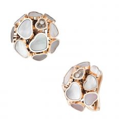 847482-5301|Buy Chopard Happy Hearts Rose Gold Mother-of-Pearl Earrings