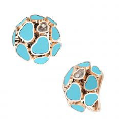 847482-5401 | Buy Chopard Happy Hearts Rose Gold Turquoise Earrings