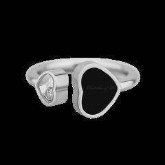 829482-1212 | Buy Chopard Happy Hearts White Gold Onyx Diamond Ring