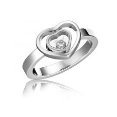 827691-1005   Buy Chopard Happy Hearts White Gold Diamond Ring Size 52