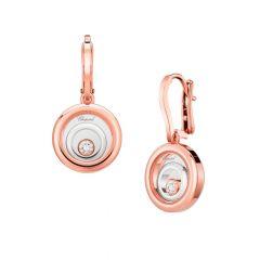 838230-9001 | Chopard Happy Spirit Rose & White Gold Diamond Earrings