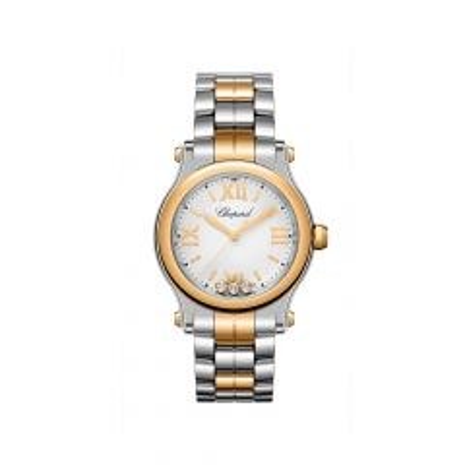 278590-6002 | Chopard Happy Sport Gold Steel Quartz Diamond 30mm Watch