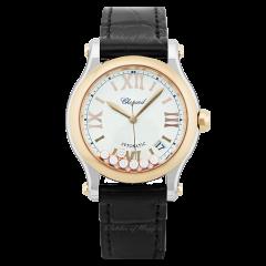 278559-6001|Chopard Happy Sport Rose Gold Automatic Diamond 36mm Watch