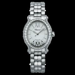 278602-3004 | Chopard Happy Sport Oval Steel And Diamonds 31.31 x 296 mm watch. Buy Online