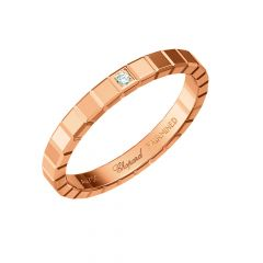 Chopard Ice Cube Rose Gold Diamond Ring Size 52 827702-5068
