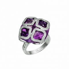829563-1008 | Buy Chopard IMPERIALE Cocktail White Gold Amethyst Ring