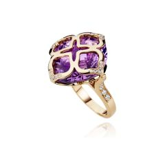 829563-5010 | Buy Chopard IMPERIALE Cocktail Rose Gold Amethyst Ring